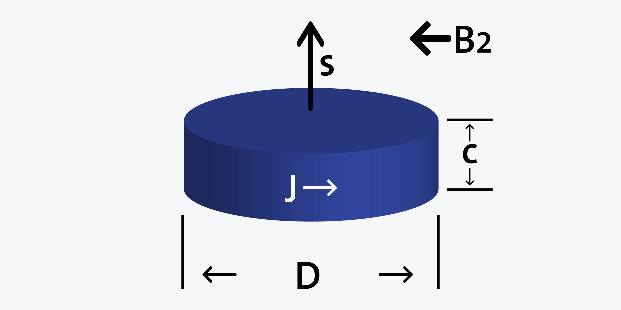 Disk - Diametrically magnetized